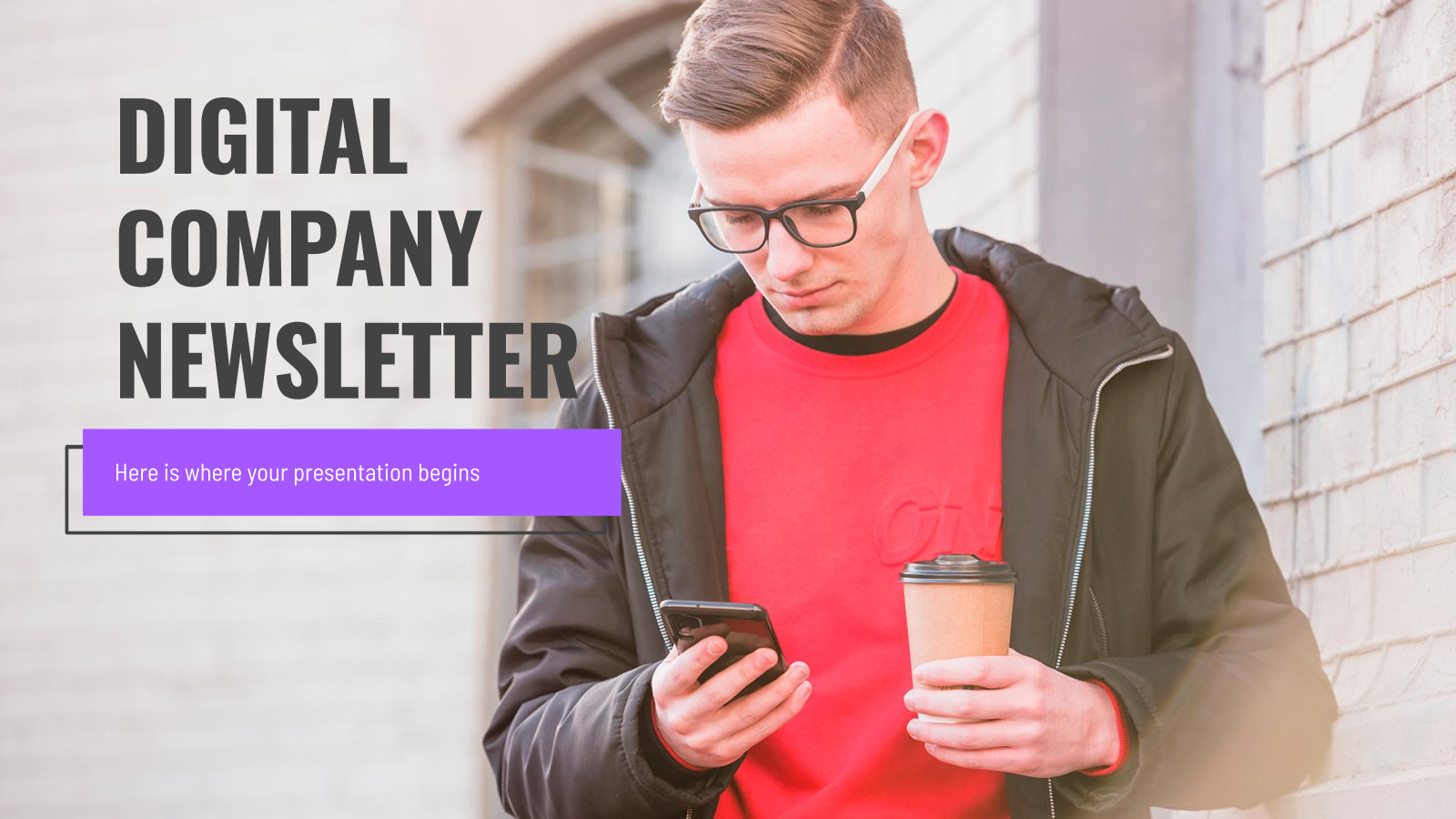 Digital Company Newsletter presentation template