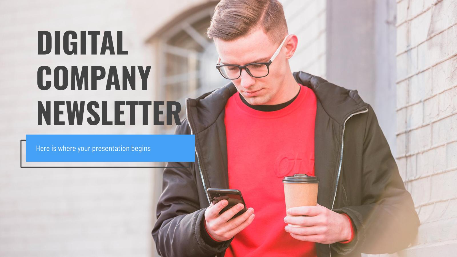 Modelo de apresentação Newsletter corporativo digital