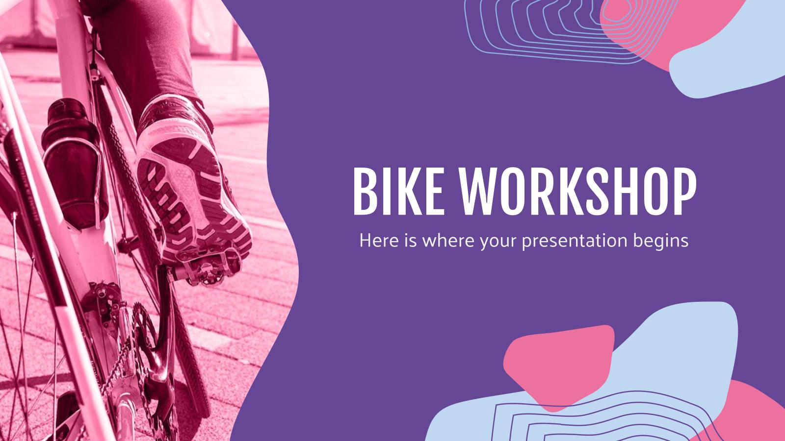 Modelo de apresentação Oficina de bicicletas