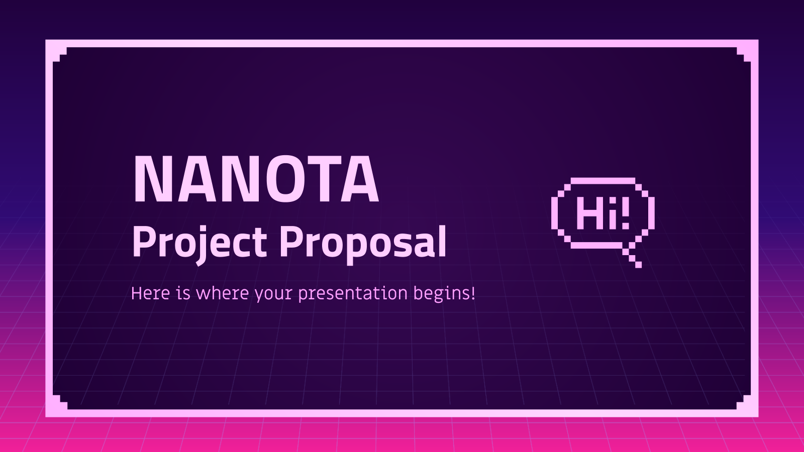 Nanota Project Proposal presentation template