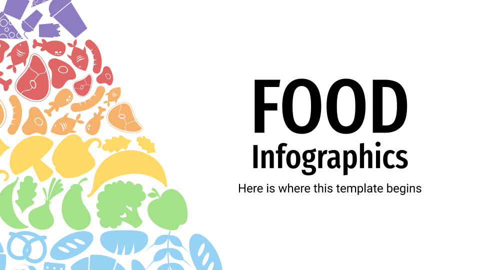 Food Infographics presentation template