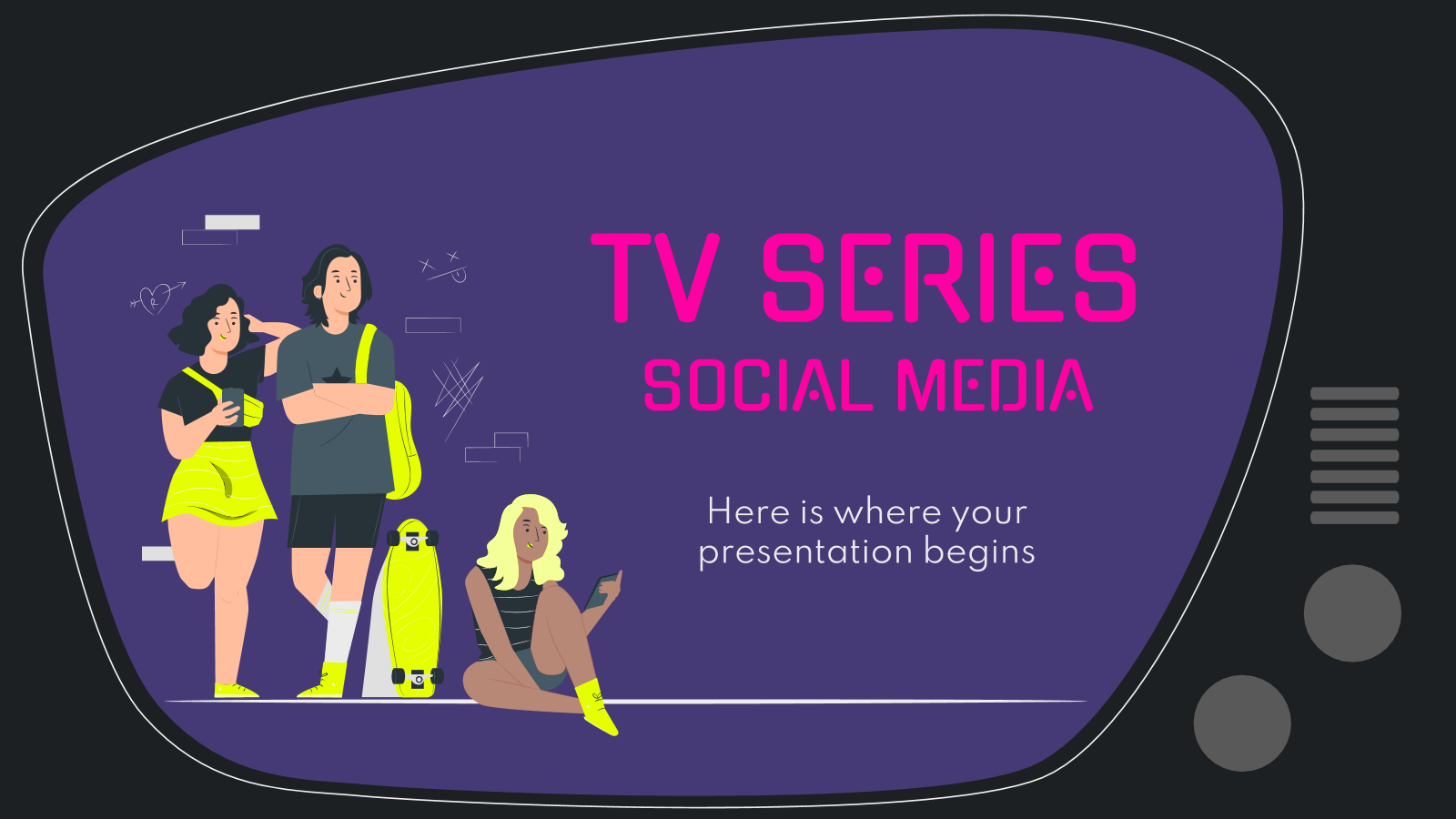 TV Series Social Media presentation template
