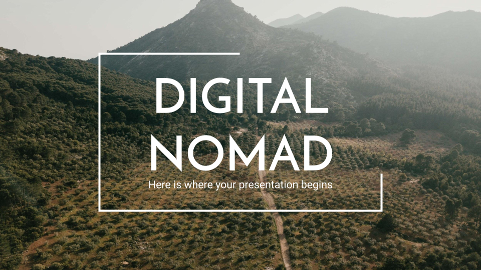 Digital Nomad presentation template