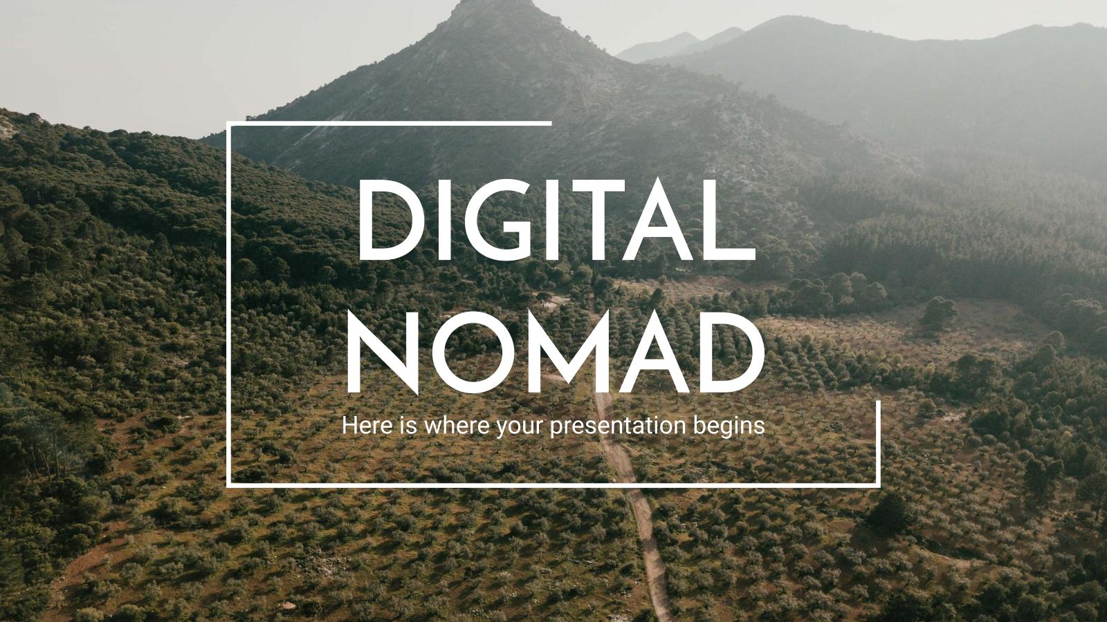 Modelo de apresentação Nômade digital