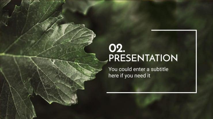 Plantilla de presentación Nómada digital