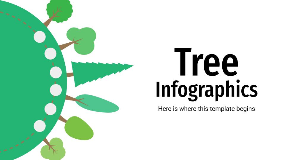 Modelo de apresentação Infográficos de árvores