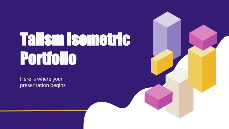 Modelo de apresentação Portfólio isométrico Talism