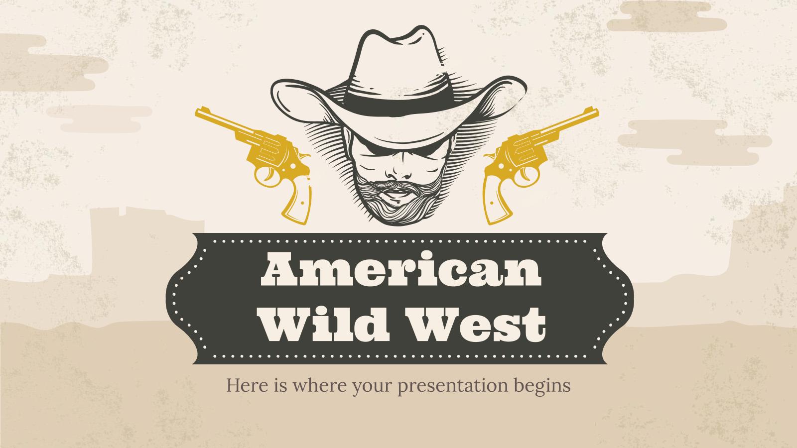 Plantilla de presentación Salvaje oeste americano
