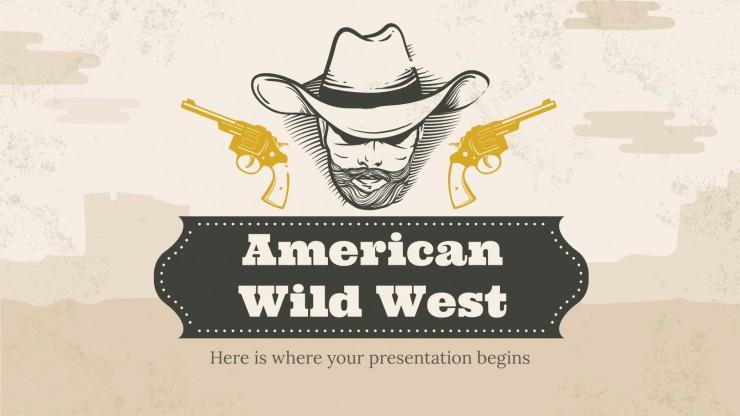 Amerikanischer Wildwest Präsentationsvorlage