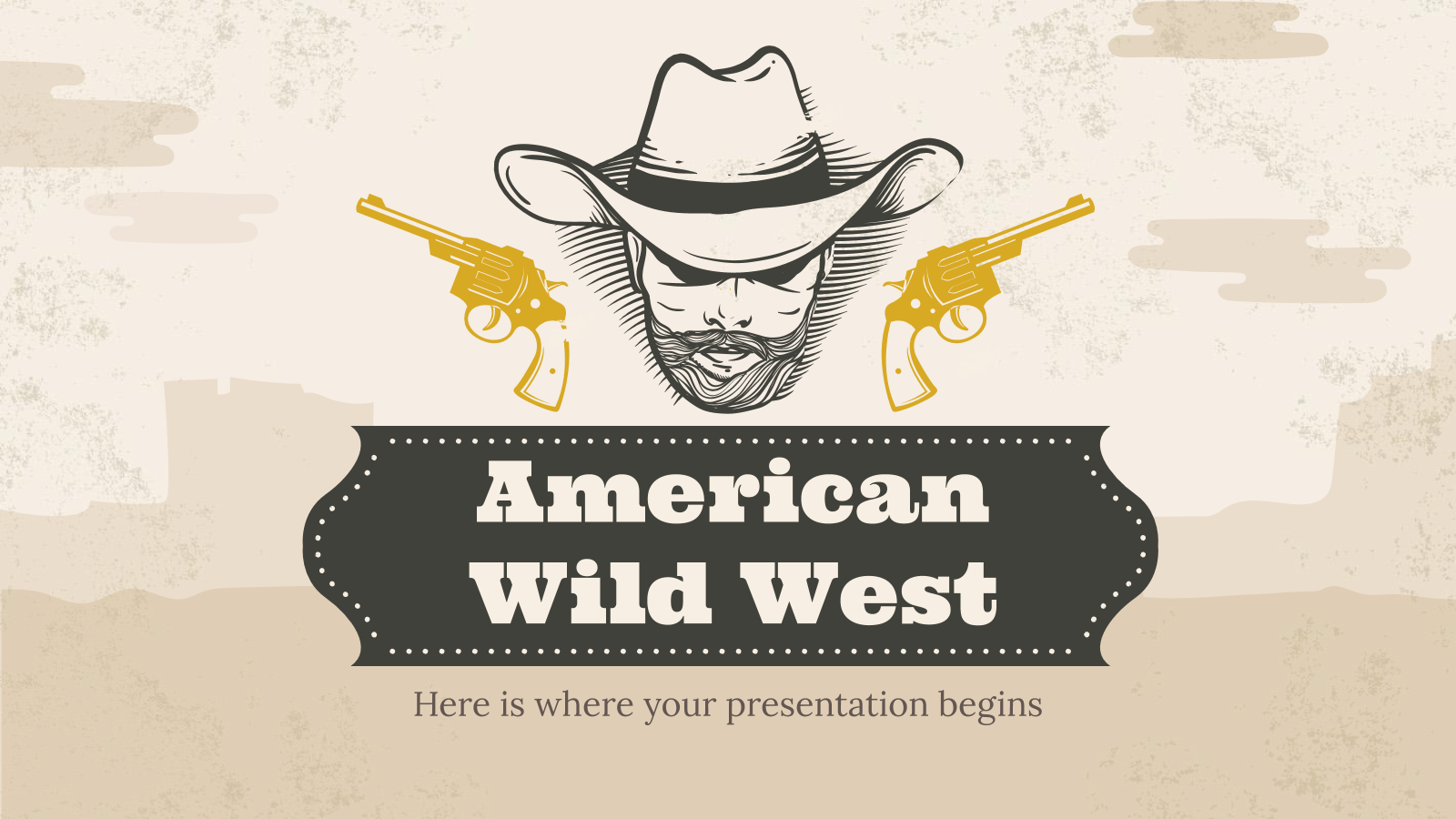 American Wild West presentation template