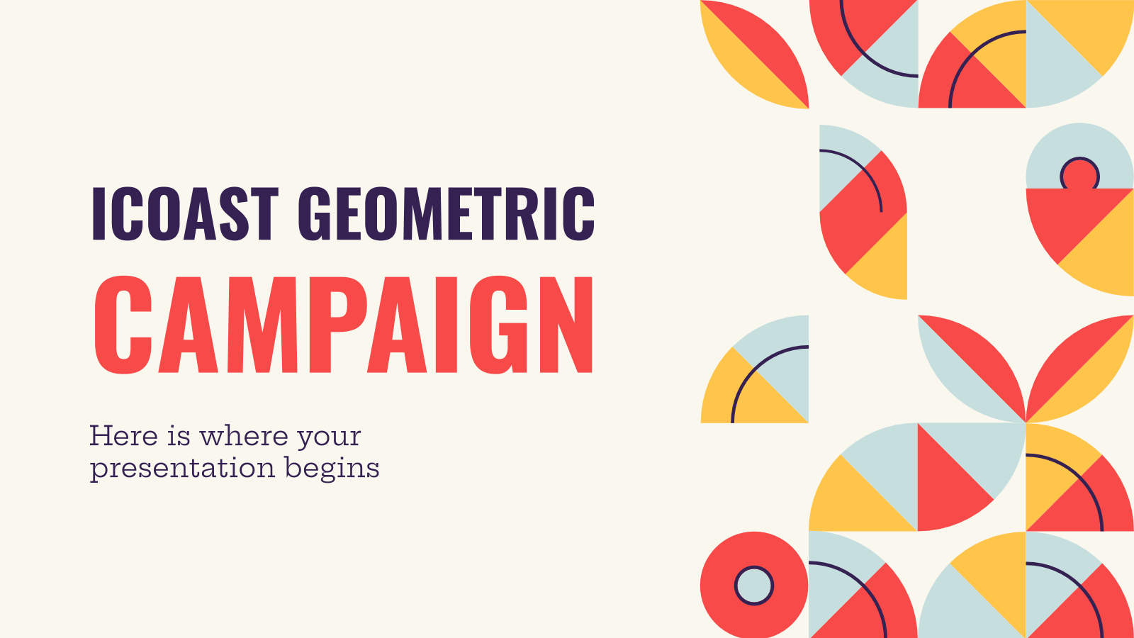 Icoast geometric campaign presentation template