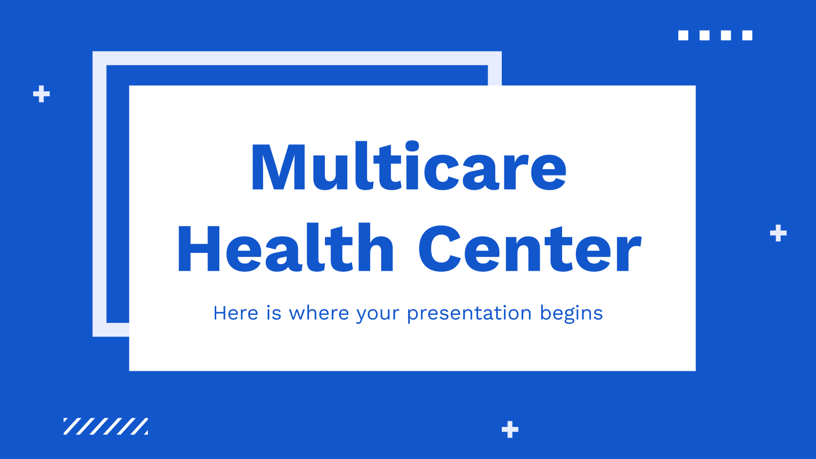 Multicare health center presentation template