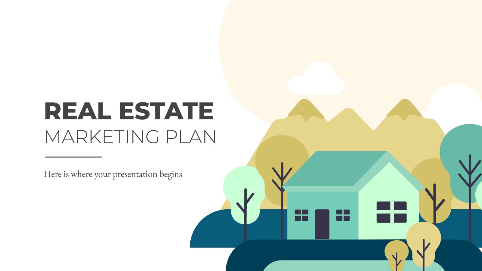 Modelo de apresentação Plano de marketing de imobiliárias