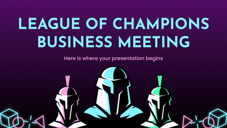 League of Champions Business Meeting presentation template