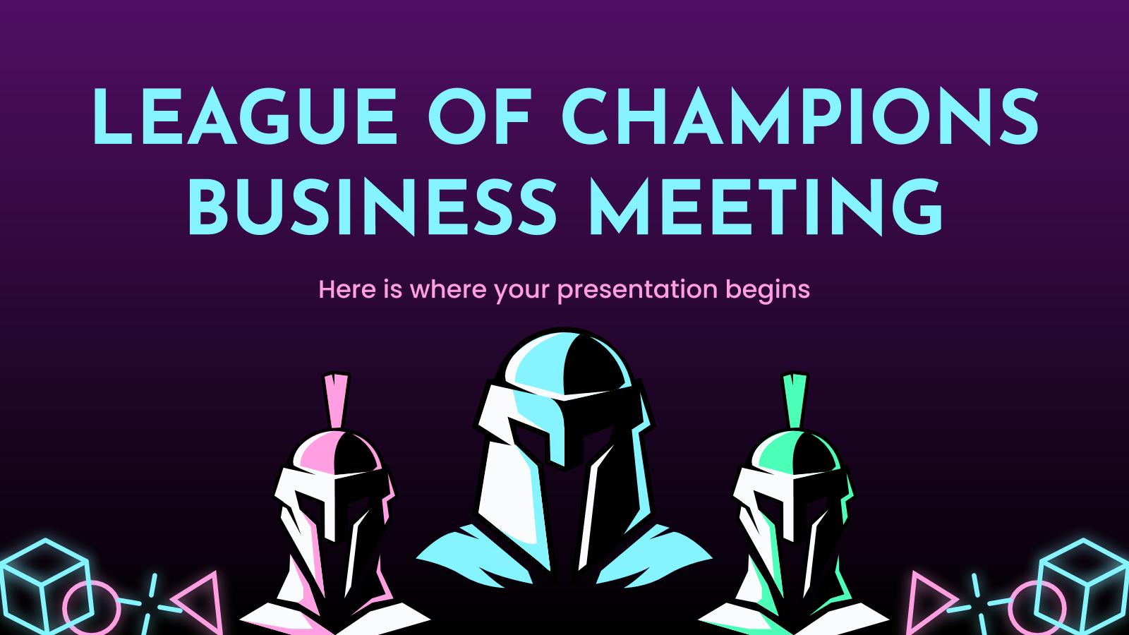 Réunion d'affaires Ligue des champions : Modèles de présentation