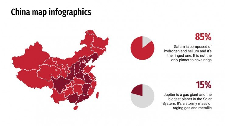China map infographics presentation template