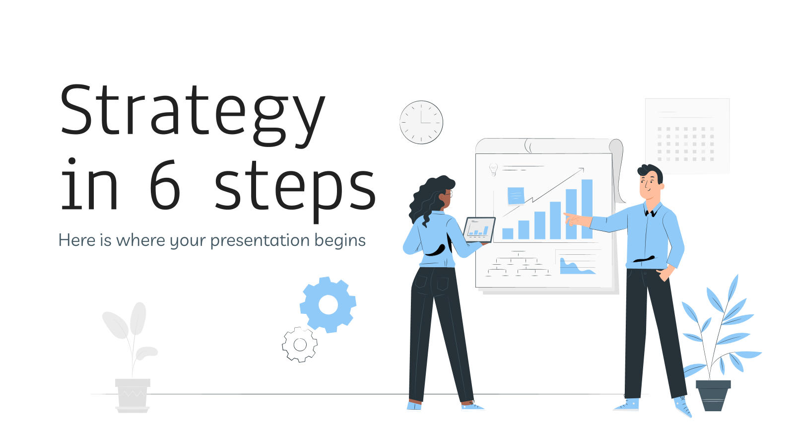 Strategy in 6 steps presentation template