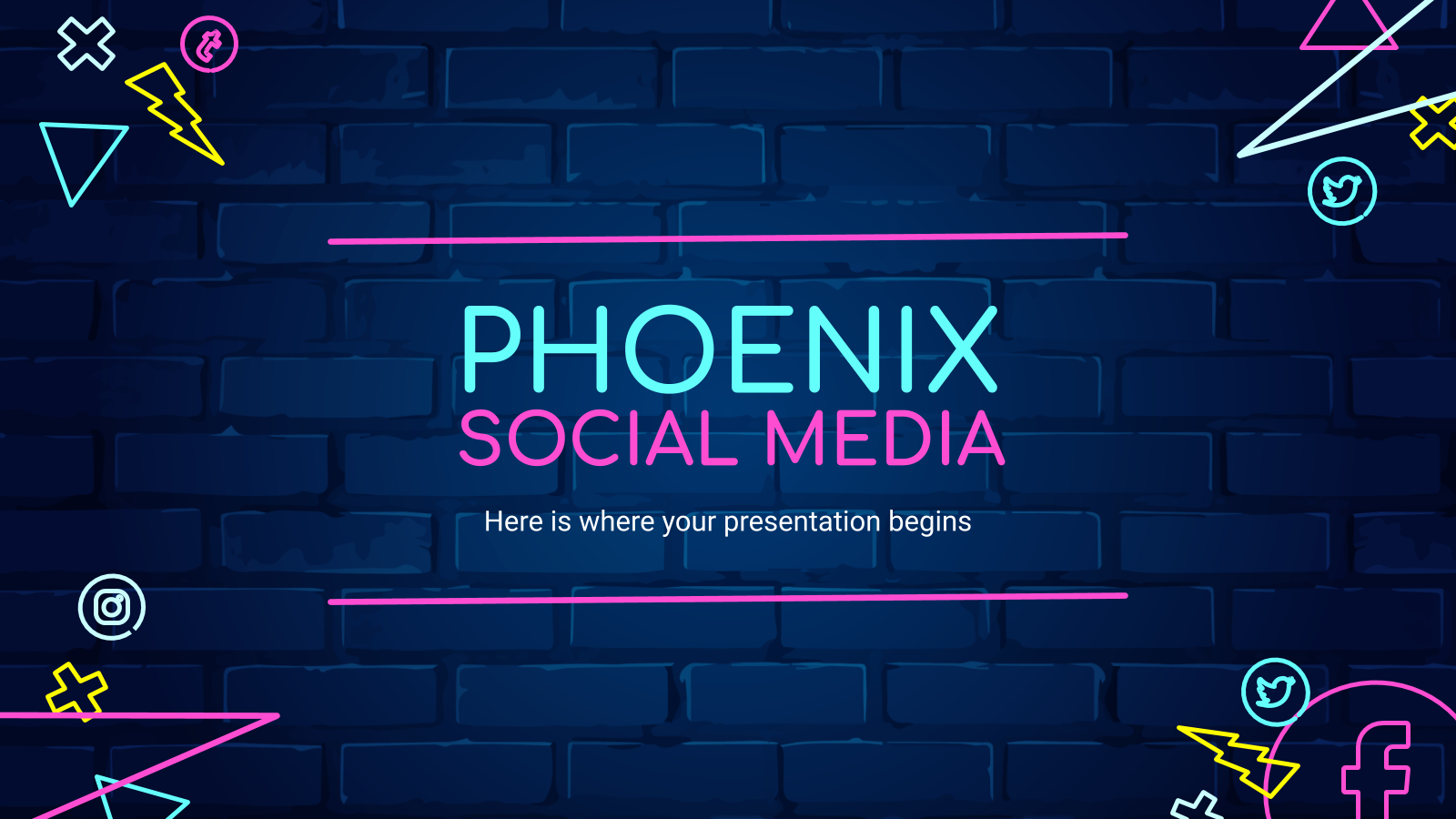 Phonix social Media presentation template