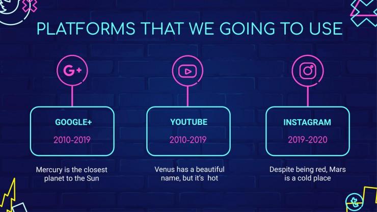 Modelo de apresentação Mídia social Phonix