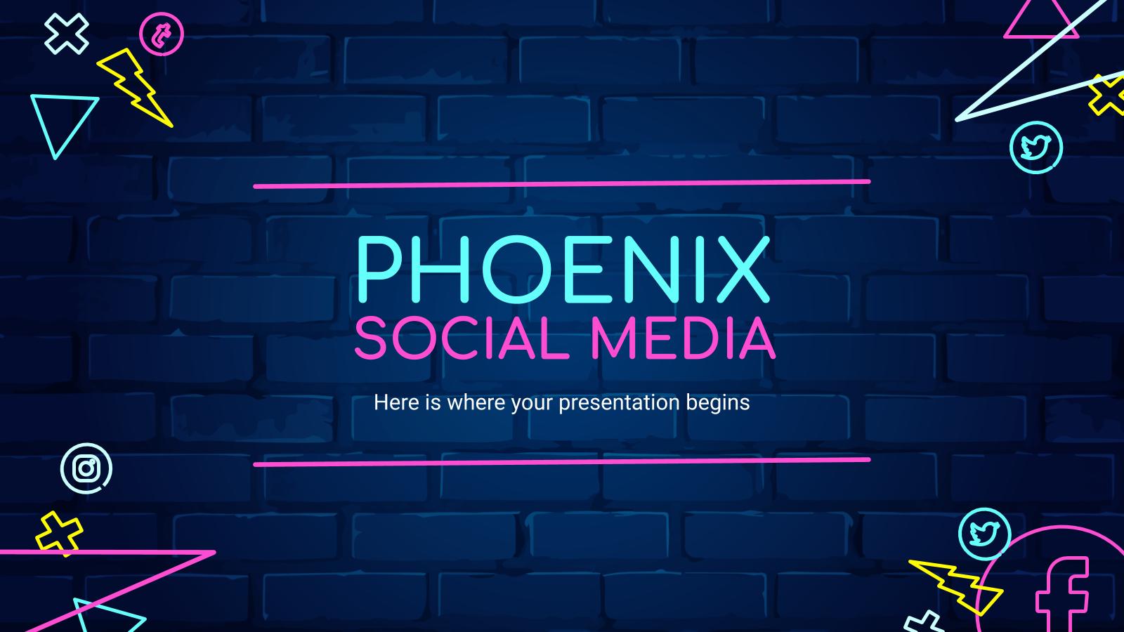 Réseaux sociaux Phonix : Modèles de présentation