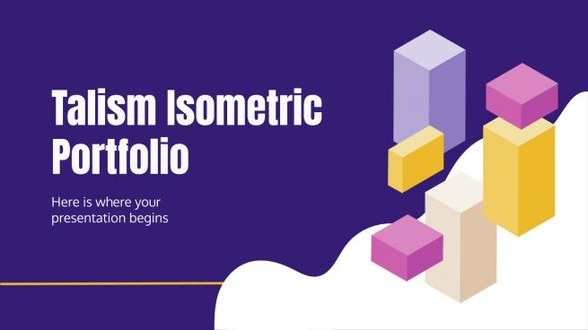 Plantilla de presentación Portafolio isométrico Talism