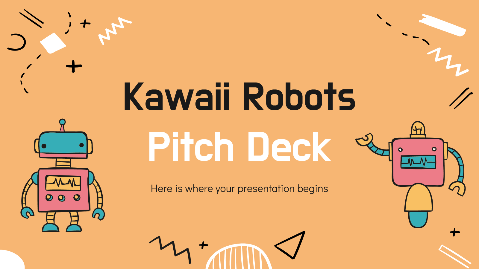 Kawaii Robots Pitch Deck presentation template