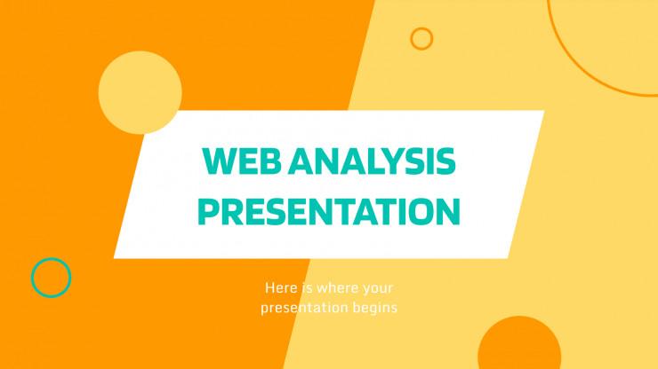 Plantilla de presentación Análisis de la web