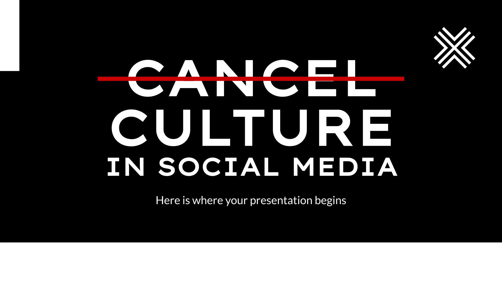 Modelo de apresentação Cultura do cancelamento nas mídias sociais
