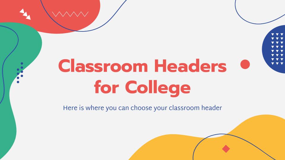 Plantilla de presentación Banners de Classroom para la Universidad