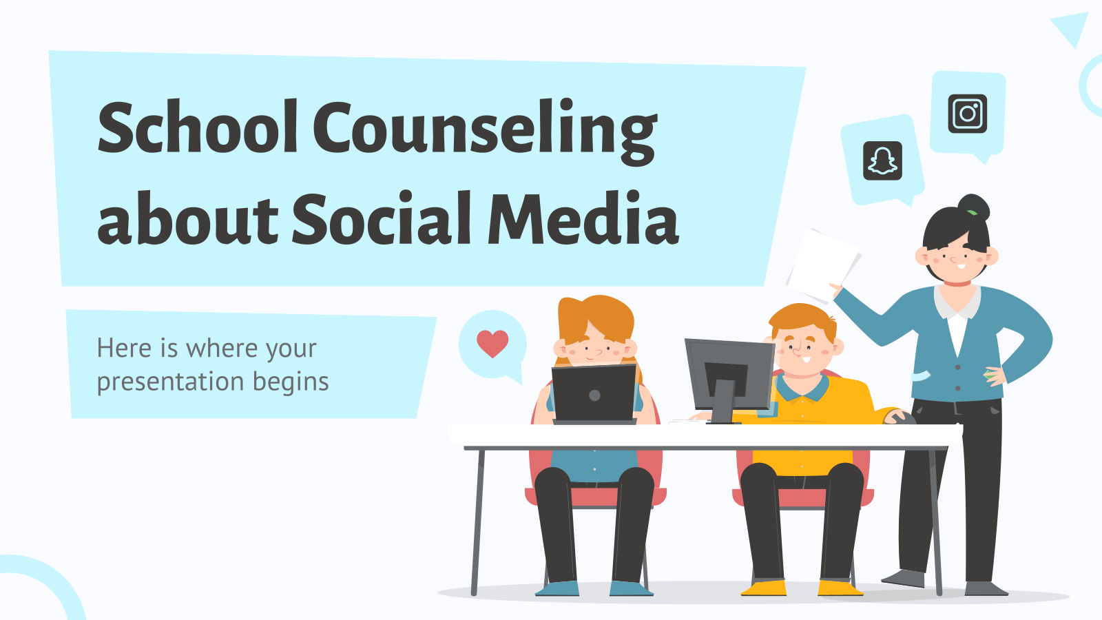 School Counseling About Social Media presentation template