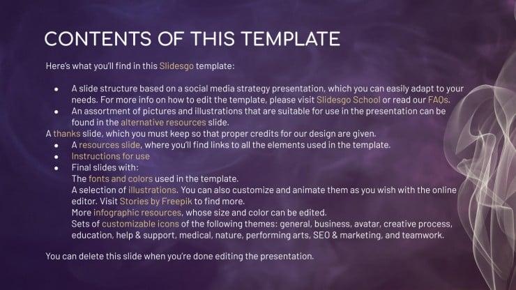 Smoke social media presentation template