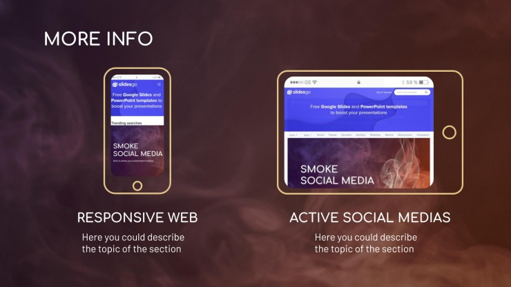 Soziale Medien Rauch Präsentationsvorlage