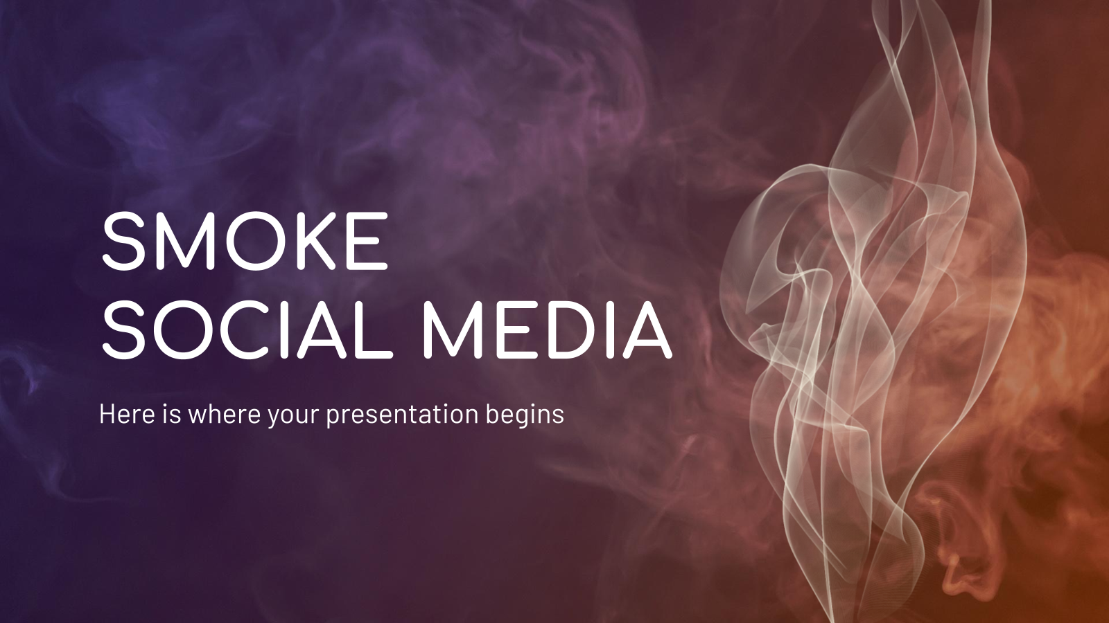 Smoke social media presentation template
