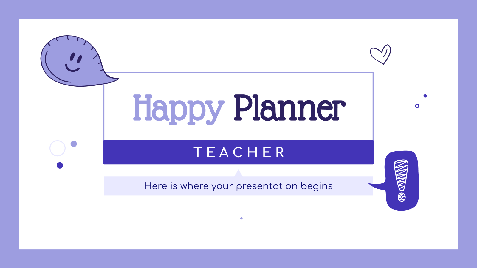 Happy planner teacher presentation template
