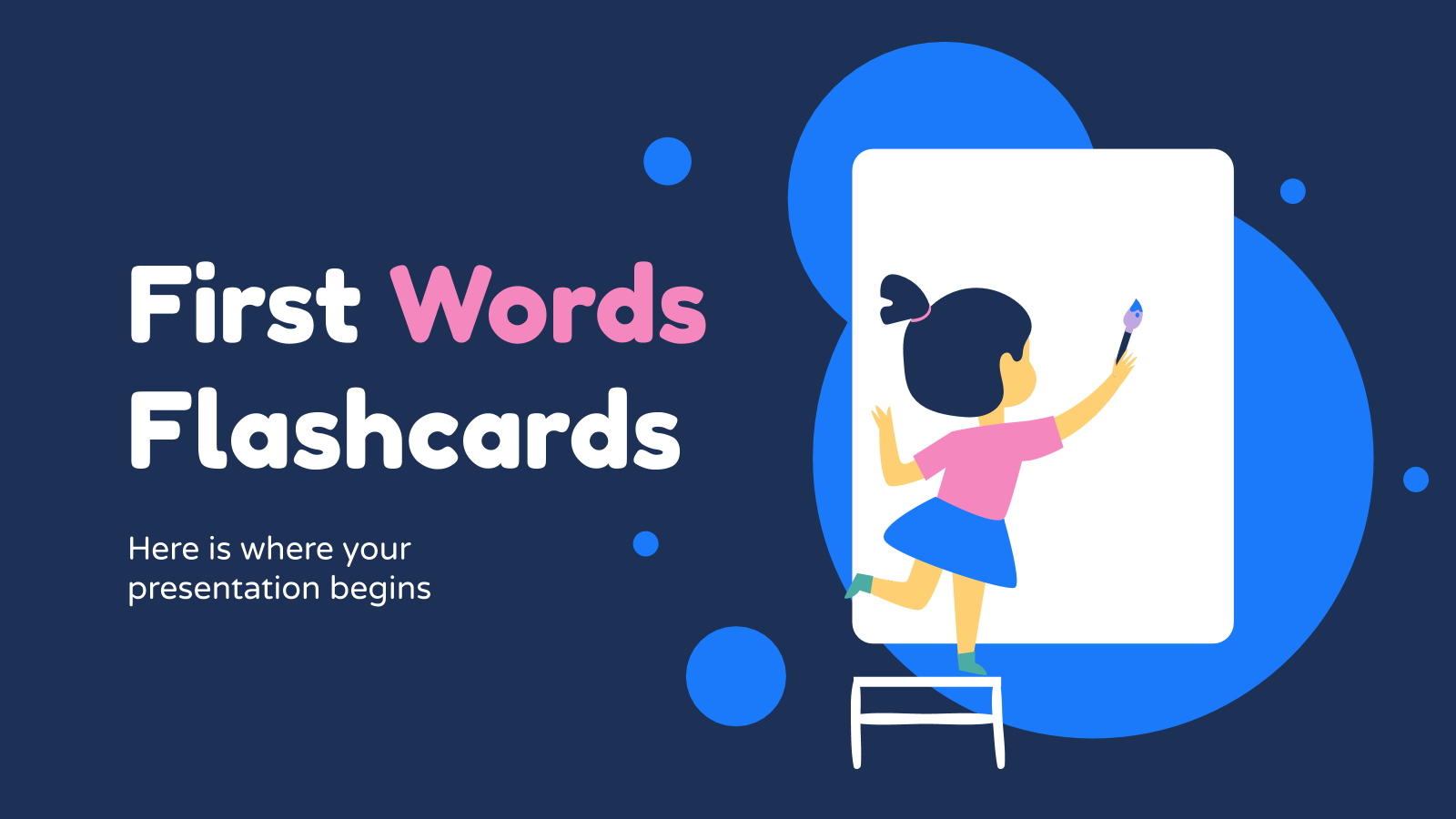 First words flashcards presentation template