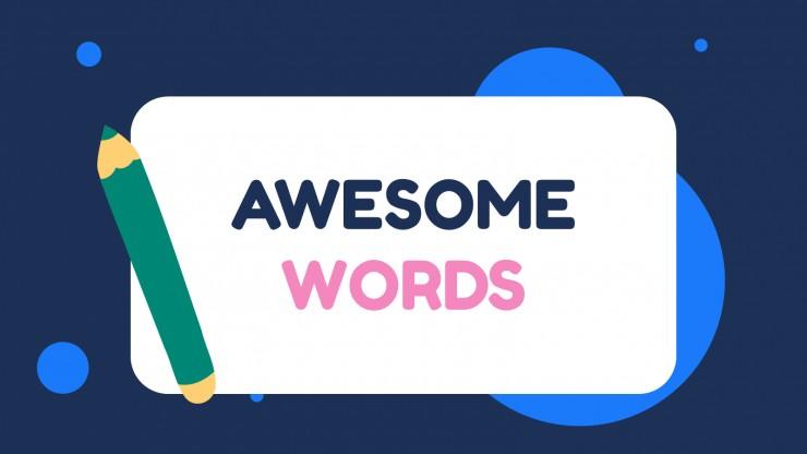 Modelo de apresentação Cartões com as primeiras palavras