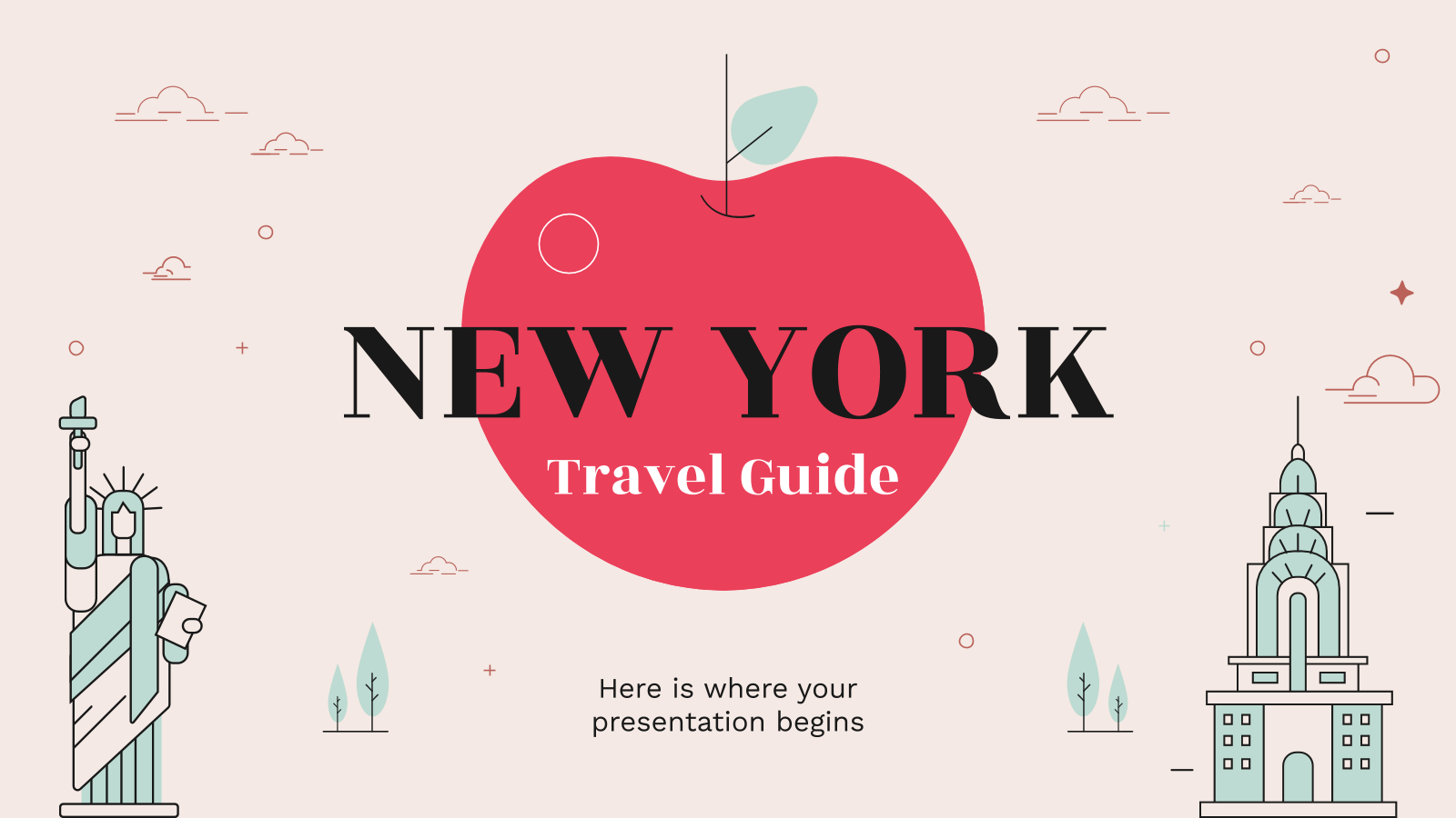 New York Travel Guide presentation template