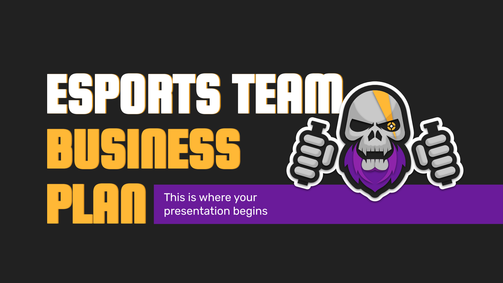 Esports Team Business Plan presentation template