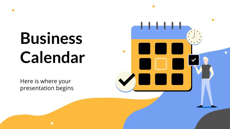 Plantilla de presentación Calendario empresarial