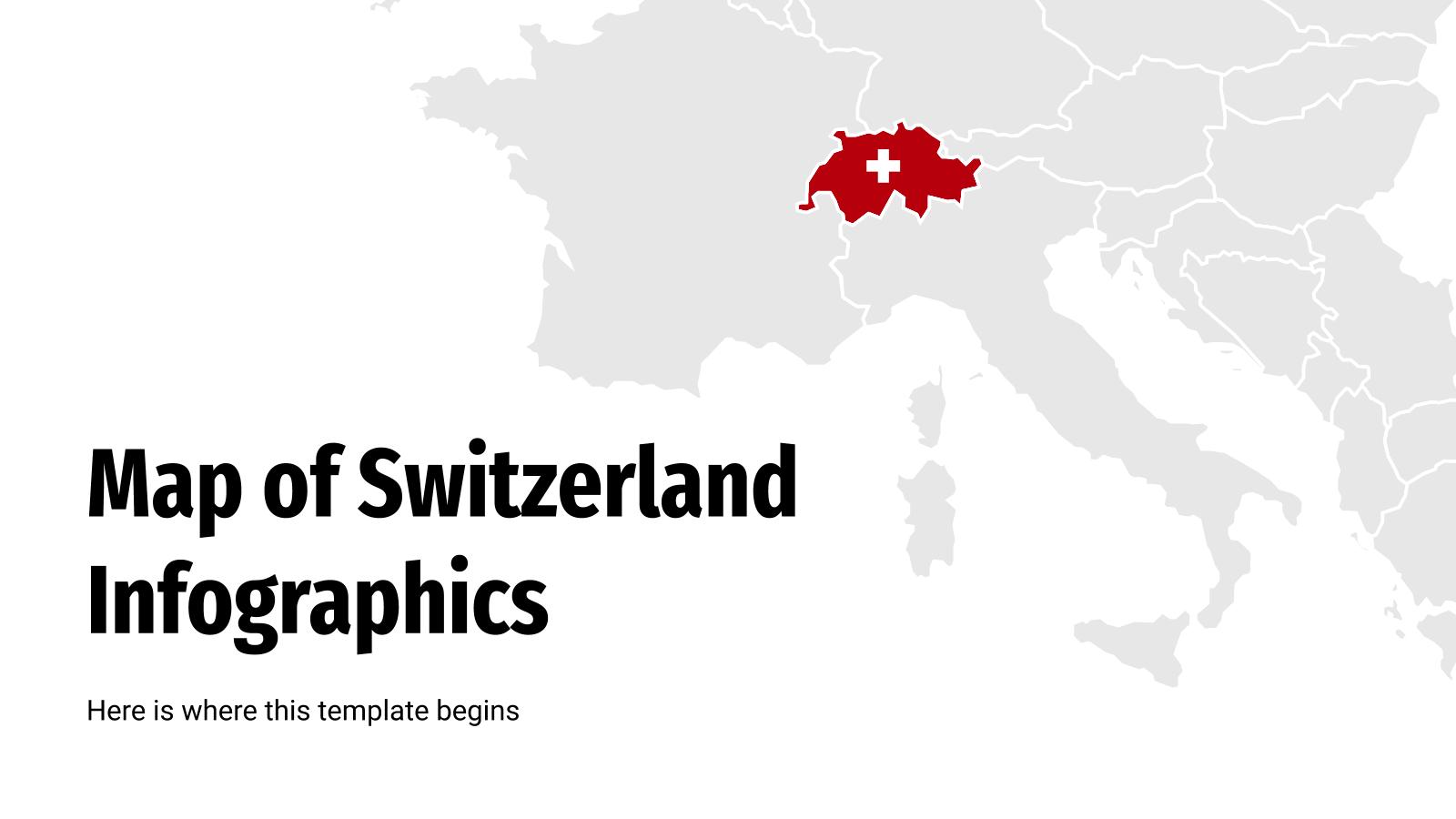 Switzerland map infographics presentation template