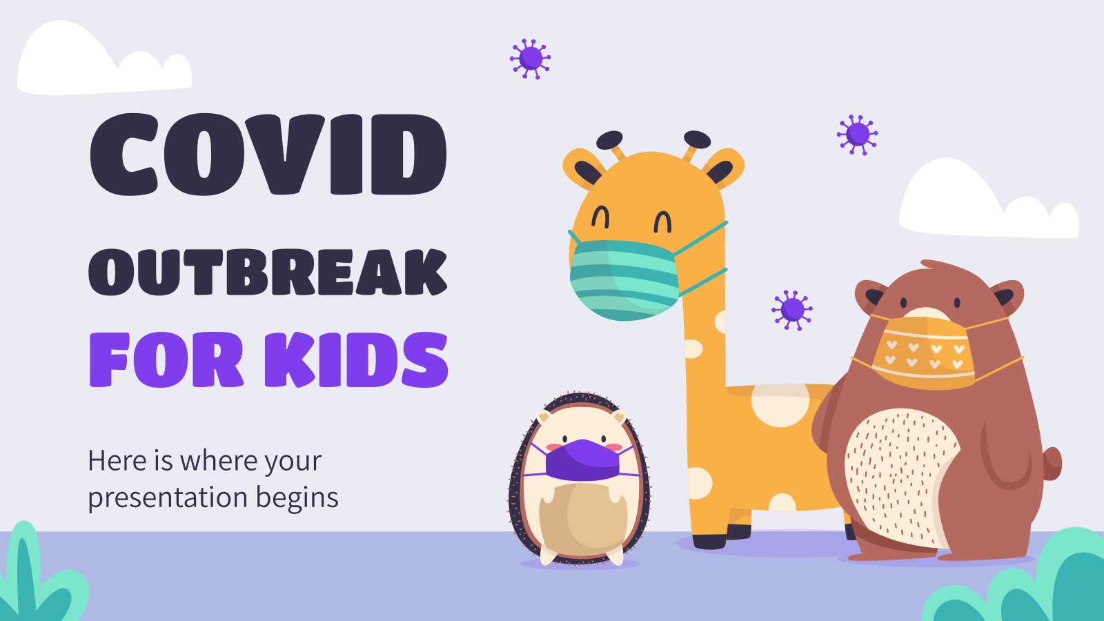 Covid Outbreak for Kids presentation template