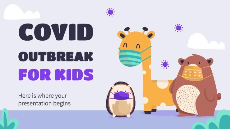 Modelo de apresentação Pandemia da COVID para crianças