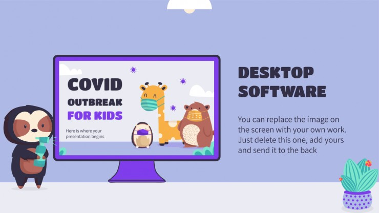 Covid Outbreak for Kids presentation template