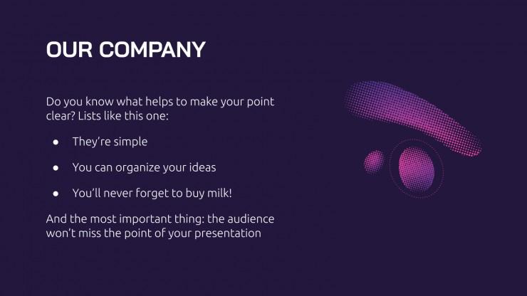 Gradients SEO Strategy presentation template