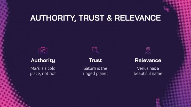 Modelo de apresentação Estratégia de SEO degradê