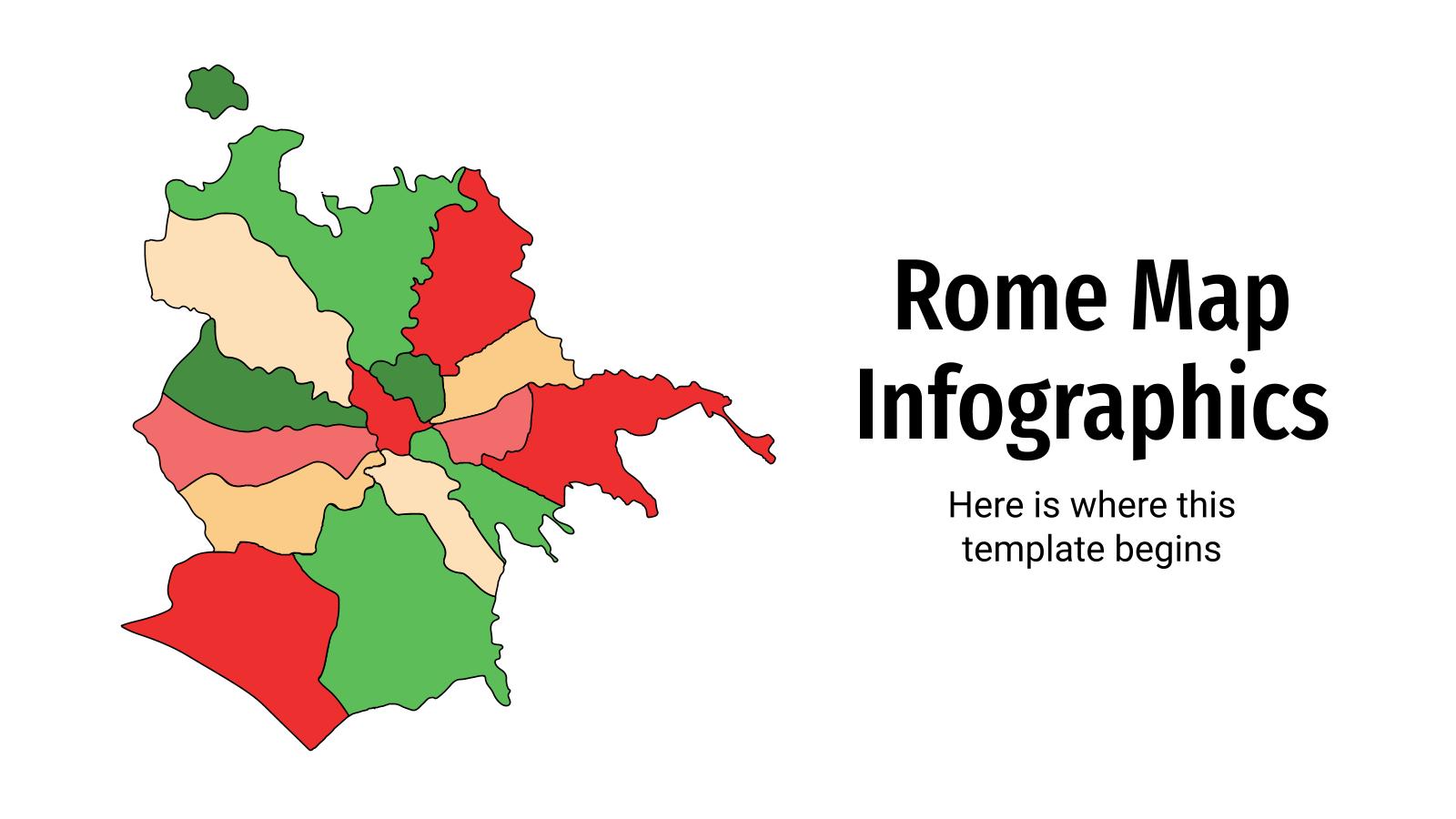 Rome map infographics presentation template
