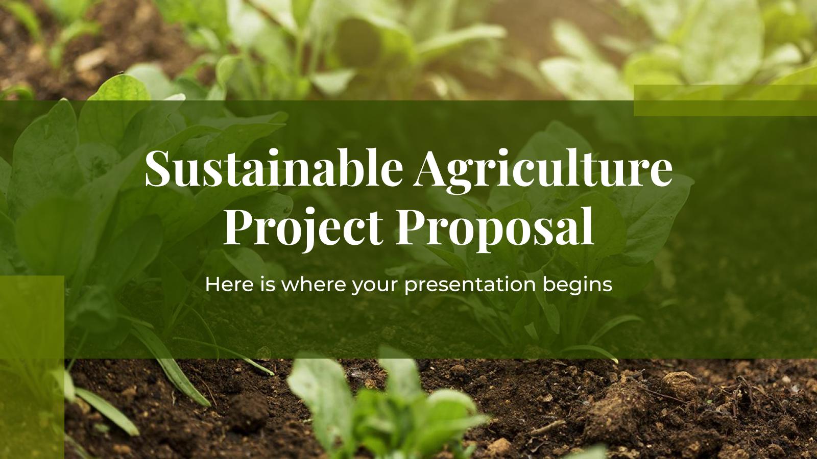 Plantilla de presentación Proyecto de agricultura sostenible