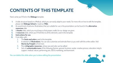 How to Disinfect presentation template