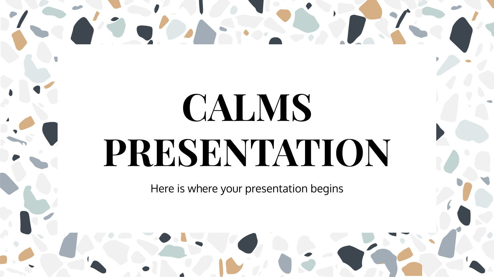 Calms presentation presentation template