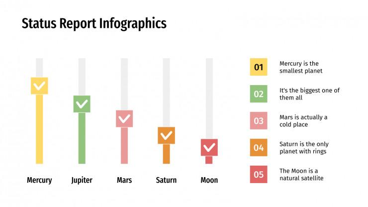 Status Report Infographics presentation template